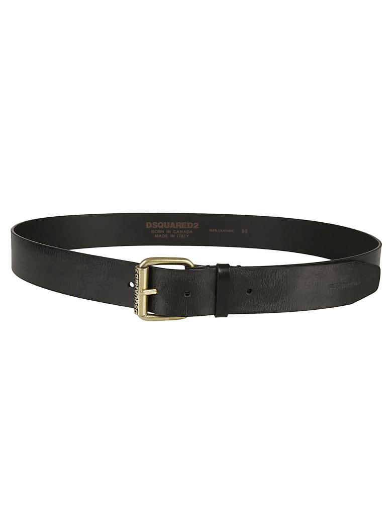 Dsquared2 Engraved Logo Belt - Black