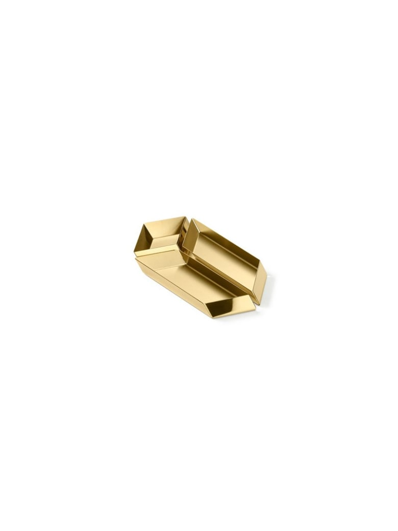 Ghidini 1961 Axonometry - Small Paralelepiped Polished Brass - Polished brass