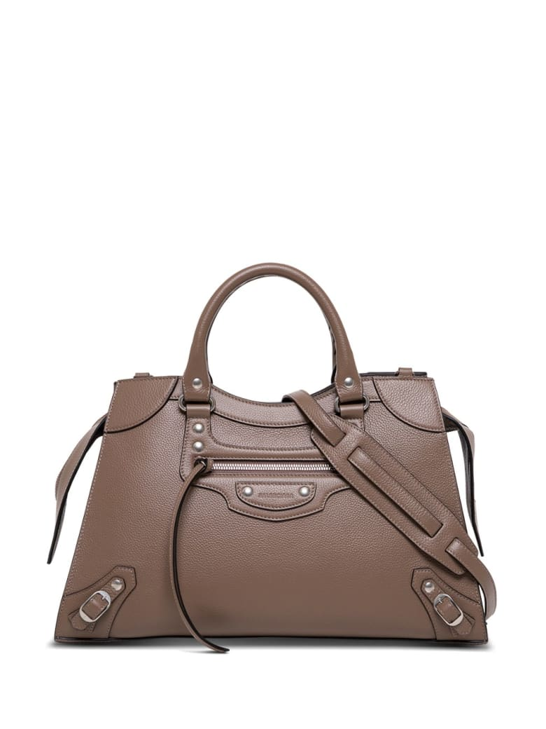 Balenciaga Neo Classic City Handbag In Taupe Colored Hammered Leather - Beige