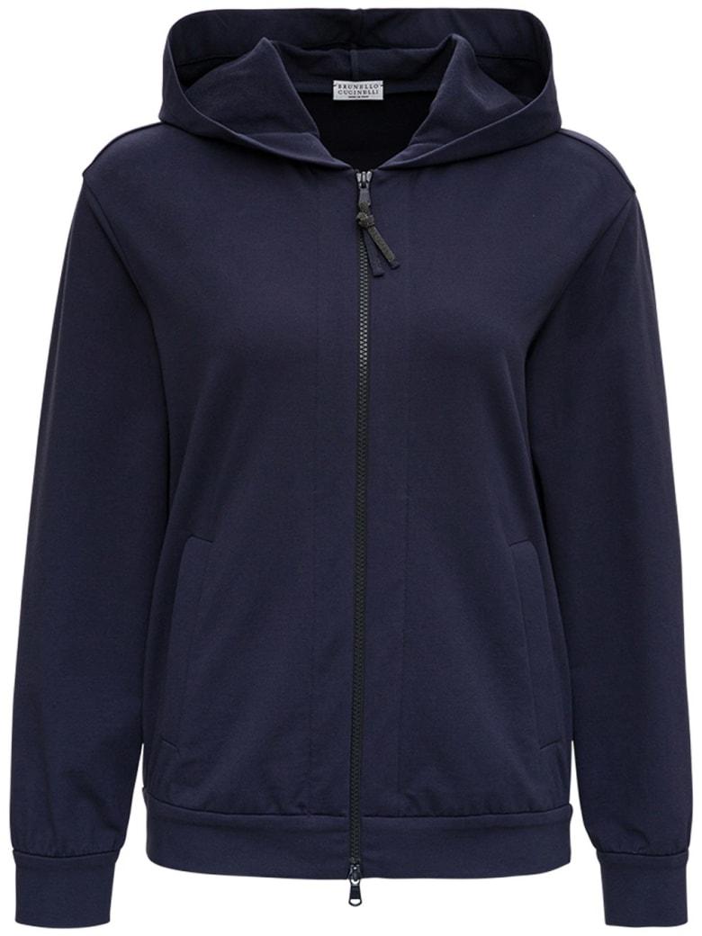 Brunello Cucinelli Blue Cotton Sweatshirt - Blu