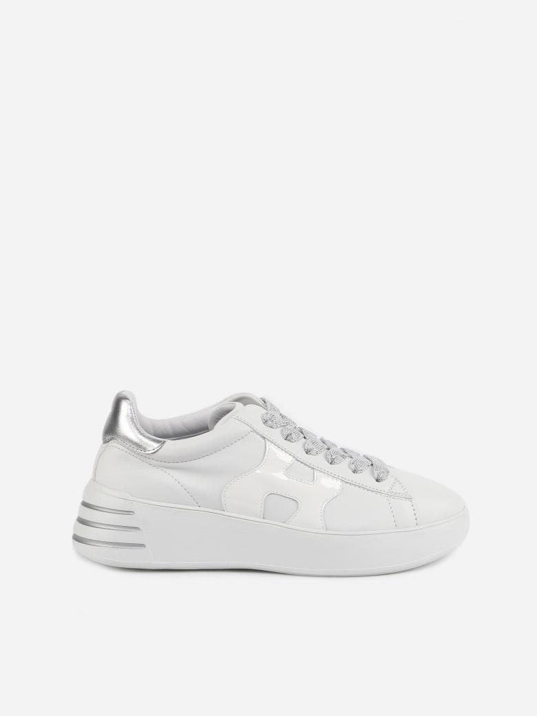 Hogan Hogan Rebel Sneakers With Metallic Leather Details - White