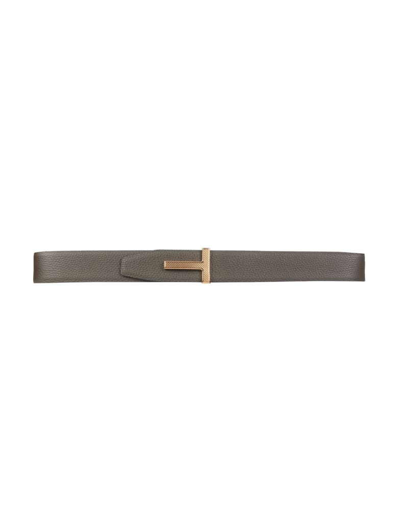 Tom Ford Reversible Belt With Logo - VERDE