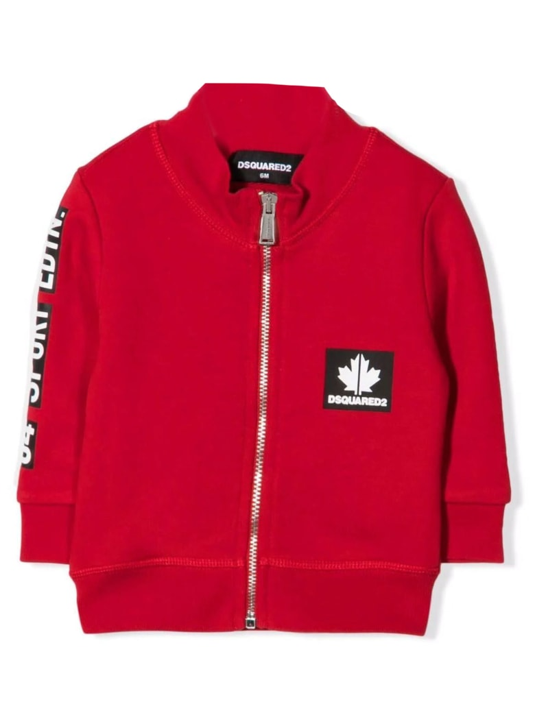 Dsquared2 Red Cotton Sweatshirt - Rosso