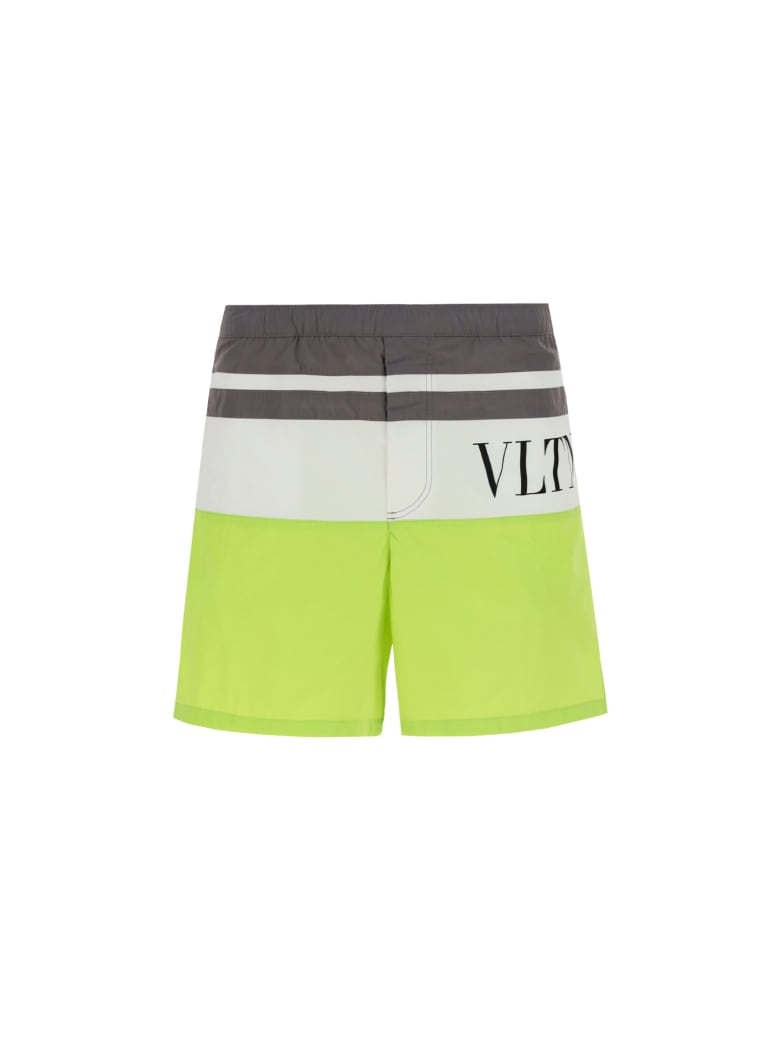 Valentino Swimsuit - Grigio/lime/bianco
