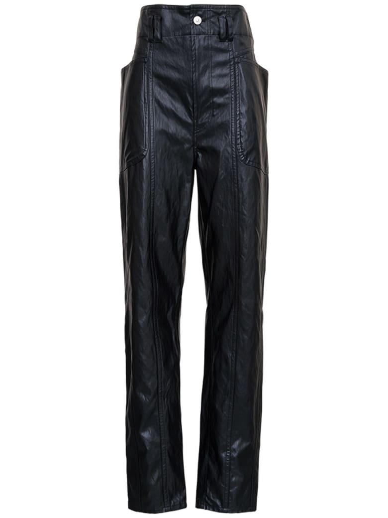 Isabel Marant Étoile Tessini Black Leatheret Pants - Black