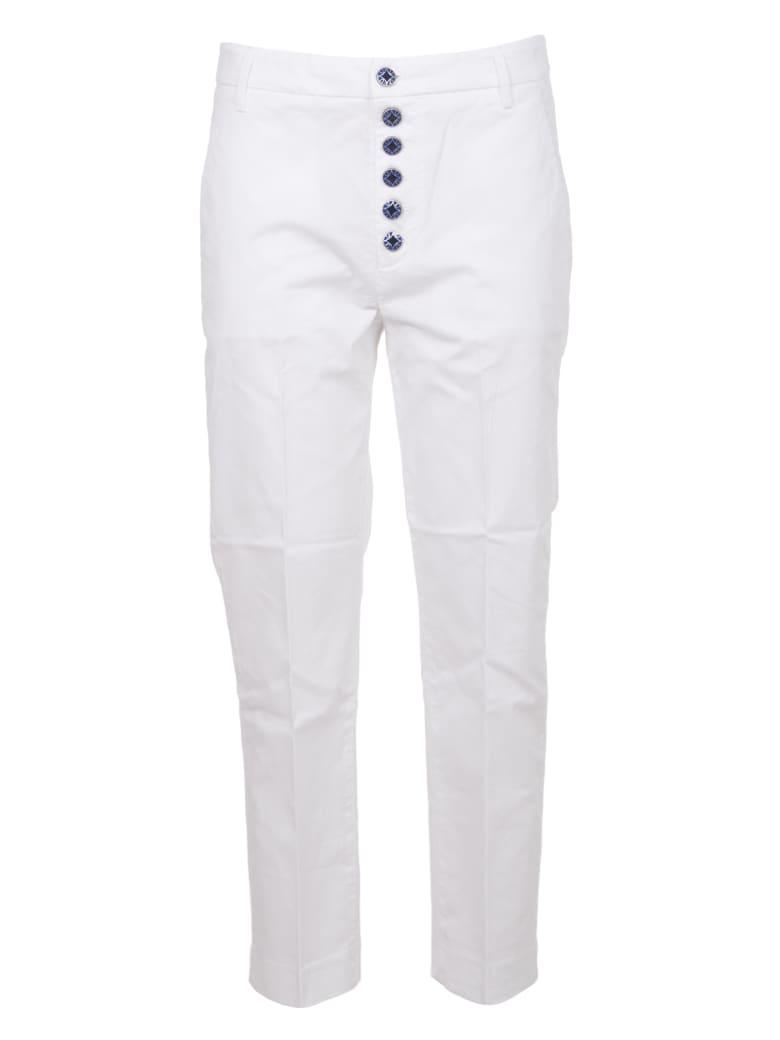 Dondup White Nima Trousers - Bianco