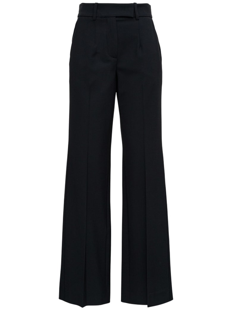 Tela Black Pants In Wool Blend - Black