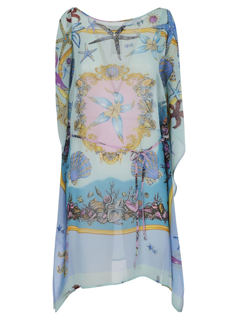 Versace Printed Dress - Blue/Multicolor