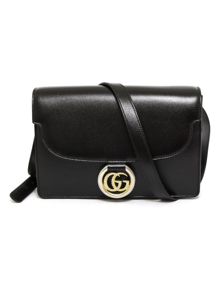 Gucci Black Leather Shoulder Bag - Nero