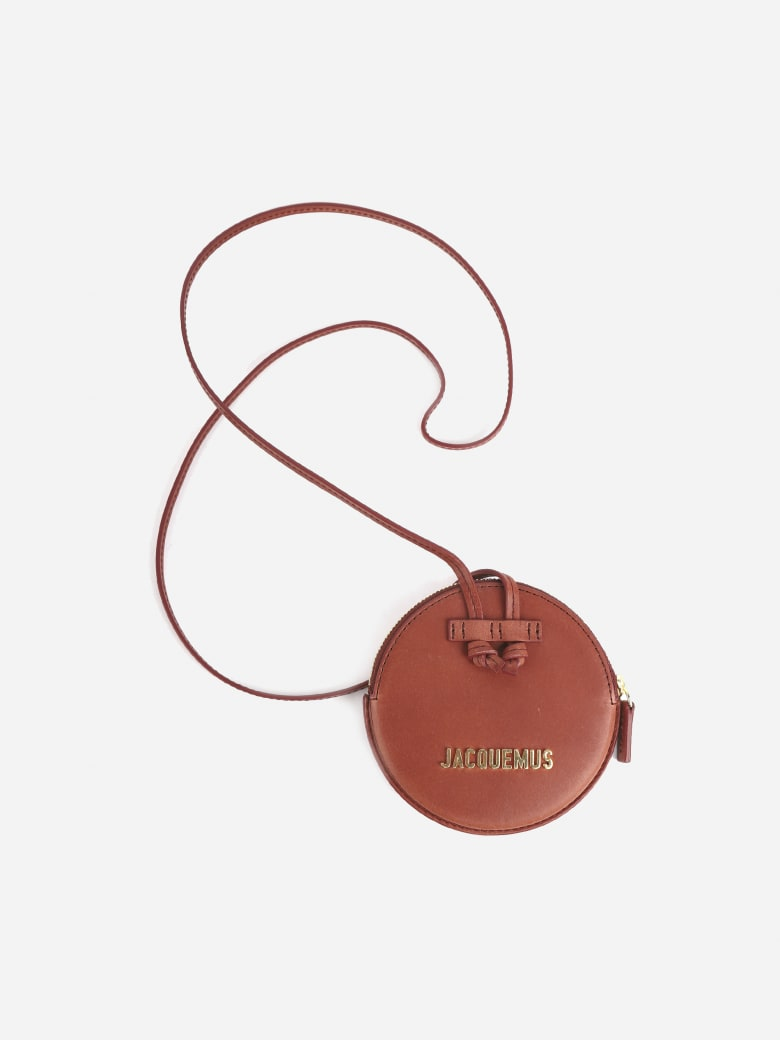 Jacquemus Coin Purse In Leather With Logo - Dark red