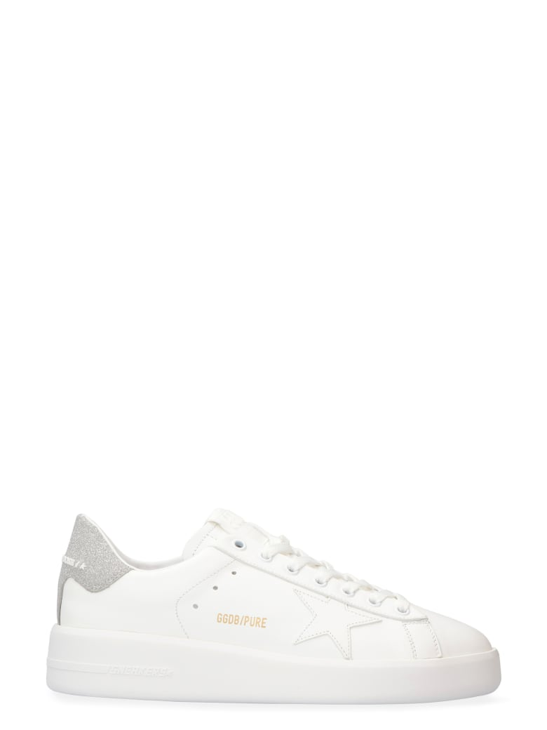 Golden Goose Pure Star Leather Low-top Sneakers - White