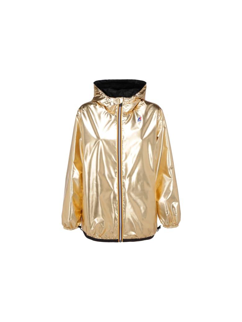 Fendi X K-way Coat - Gold