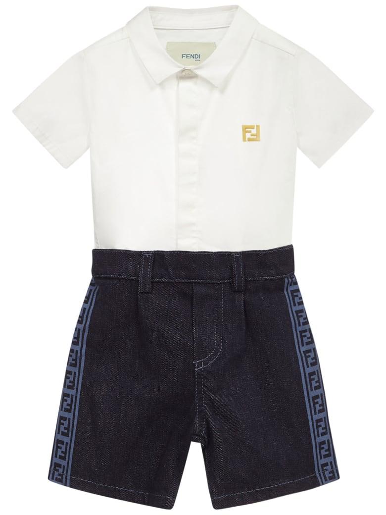 Fendi Kids Romper Suit - Multicolore