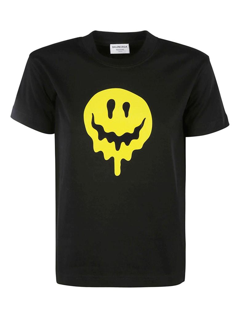 Balenciaga Melting Smiley Print T-shirt - Nero