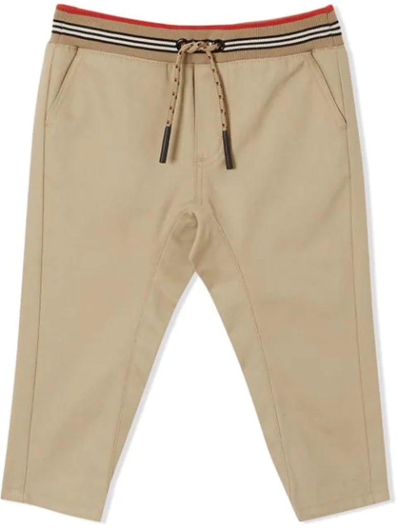 Burberry Archive Beige Cotton Twill Trousers - Beige