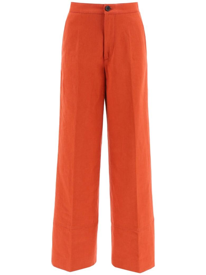Colville Palazzo Trousers - ORANGE (Orange)
