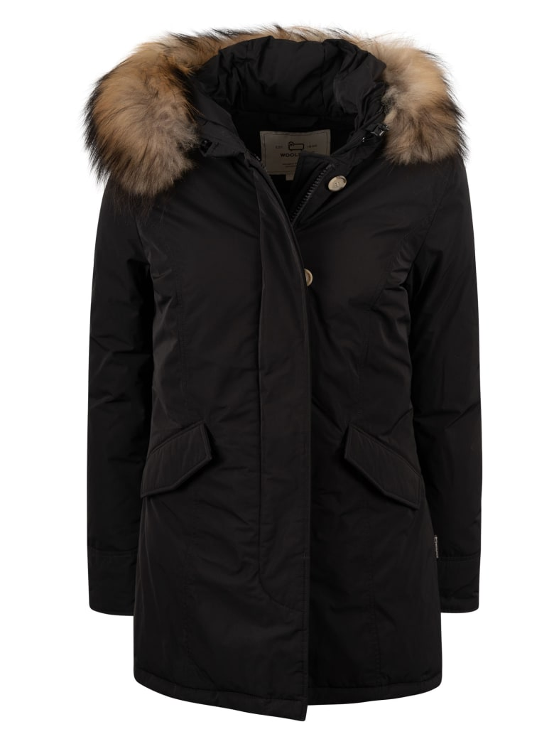 Woolrich Luxury Arctic Raccoon Parka - Black
