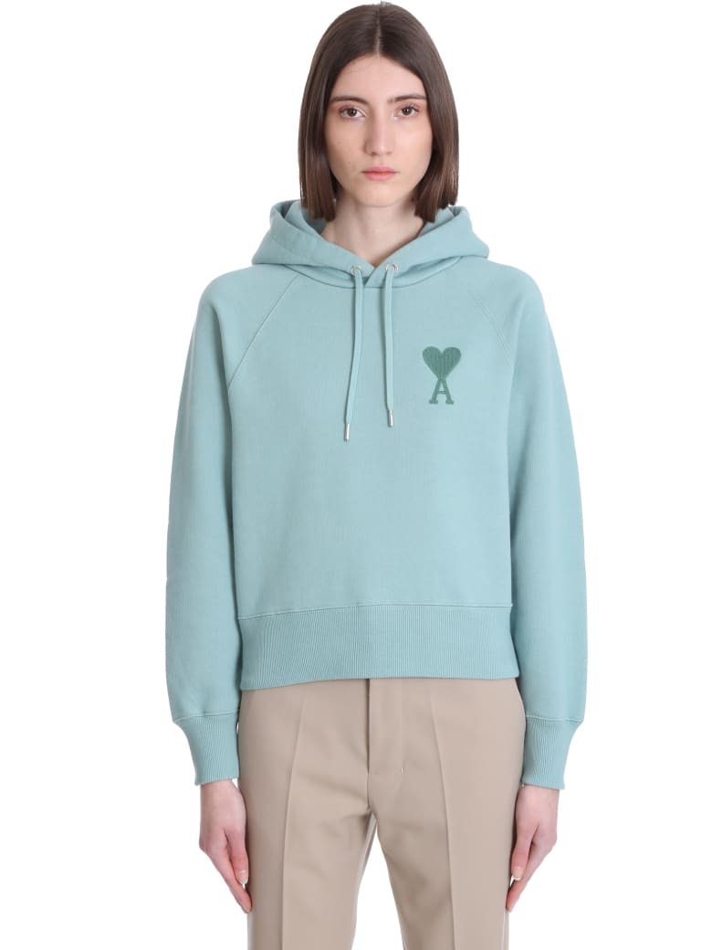 Ami Alexandre Mattiussi Sweatshirt In Green Cotton - green