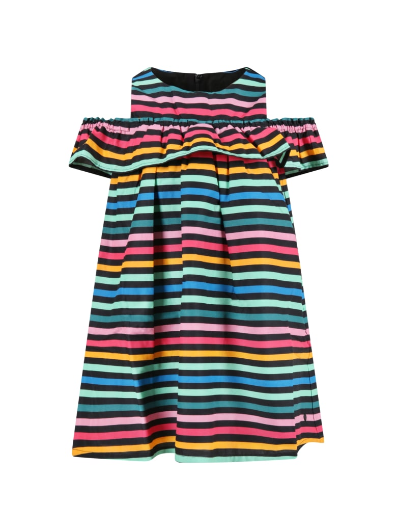 Sonia Rykiel Multicolor Dress For Girl - Multicolor