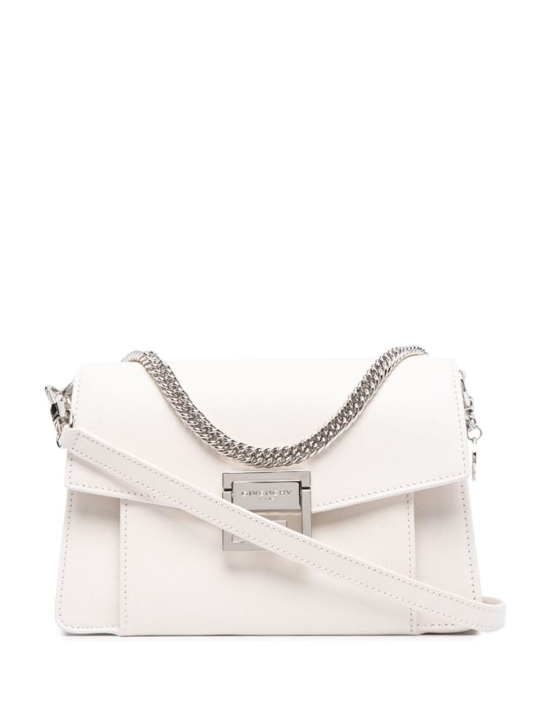 "Givenchy Small ""gv3"" Bag In White Leather"
