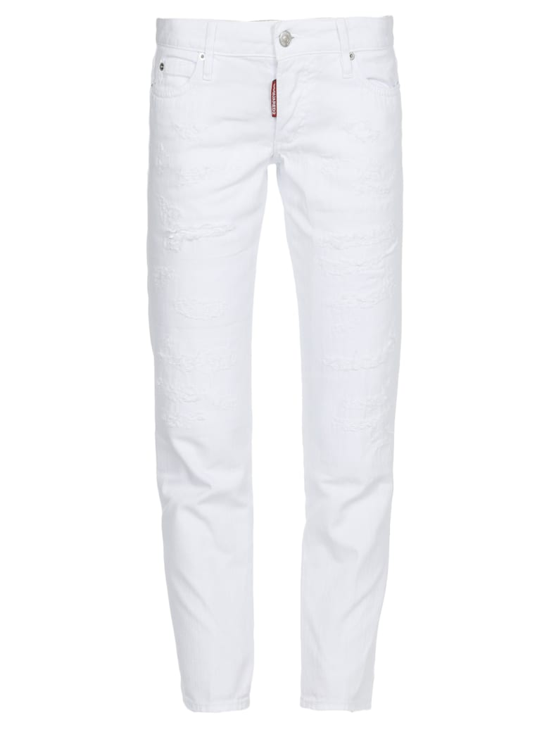 Dsquared2 Jennifer Cropped Jeans - WHITE