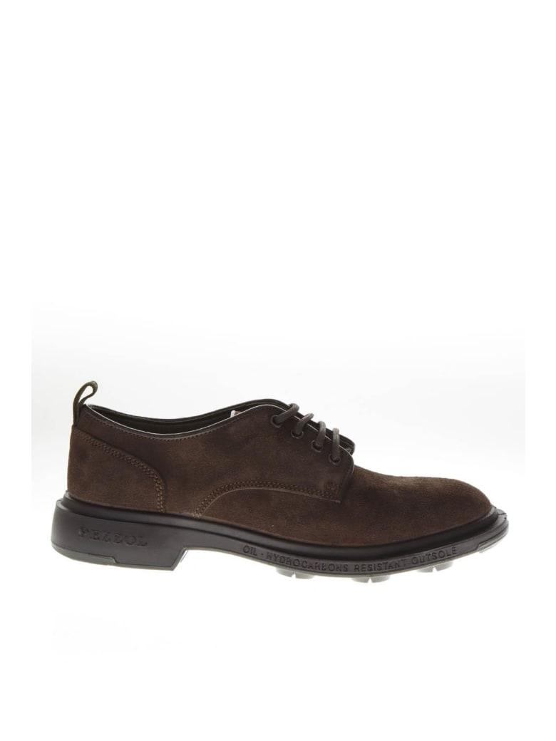 Pezzol 1951 Dark Brown Suede Lace Up Shoes - Dark brown