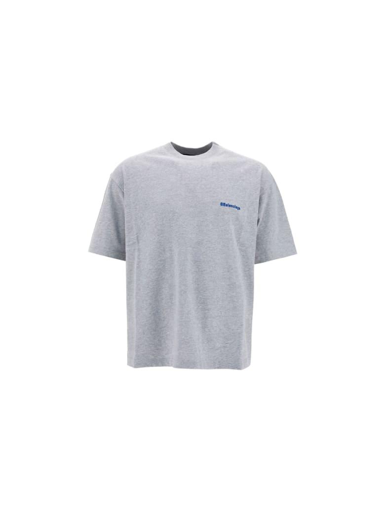 Balenciaga T-shirt - Heather grey/royal blue