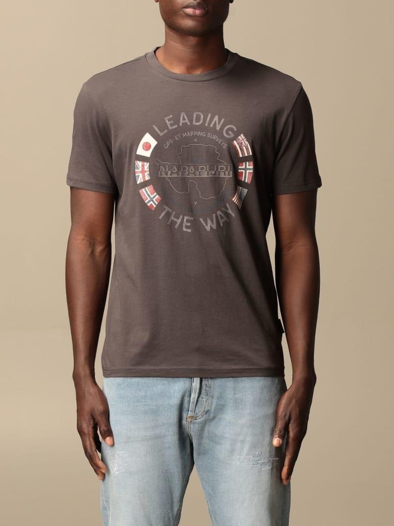 Napapijri T-shirt Napapijri Cotton T-shirt With Logo - Grey