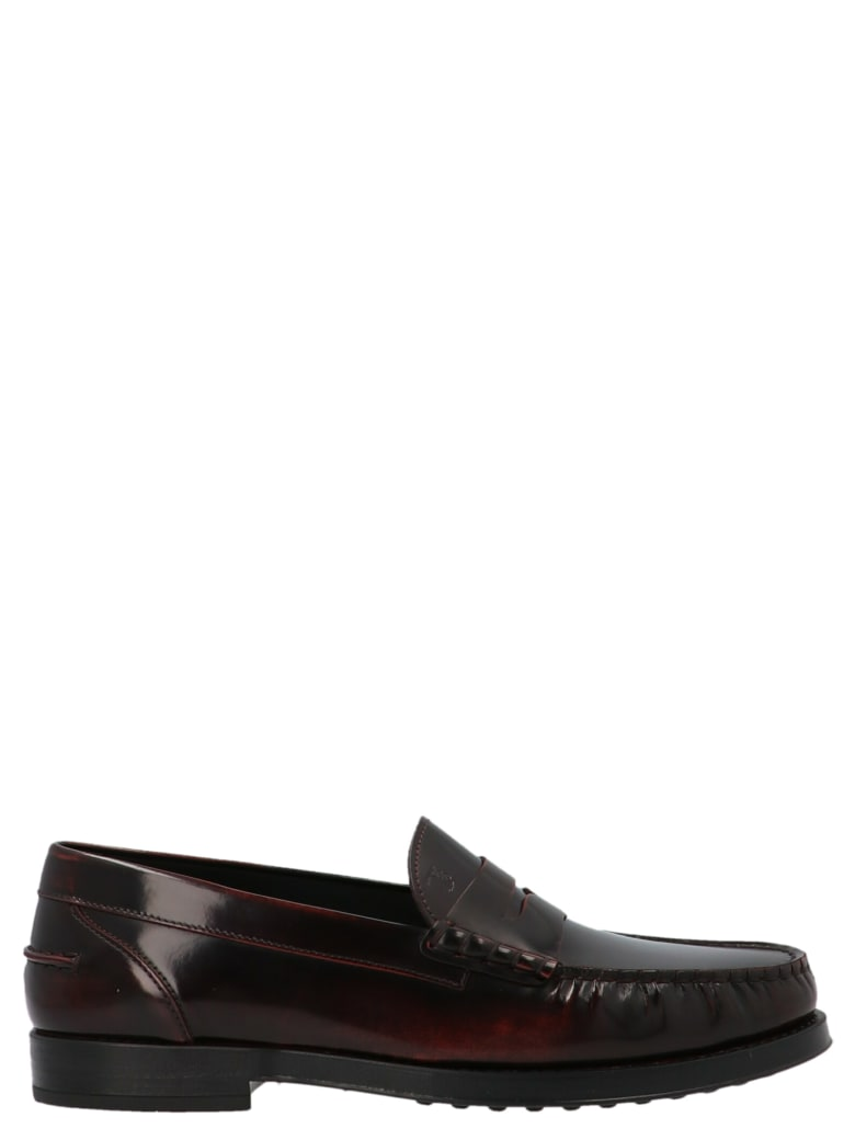 Tod's 'college' Shoes - Burgundy