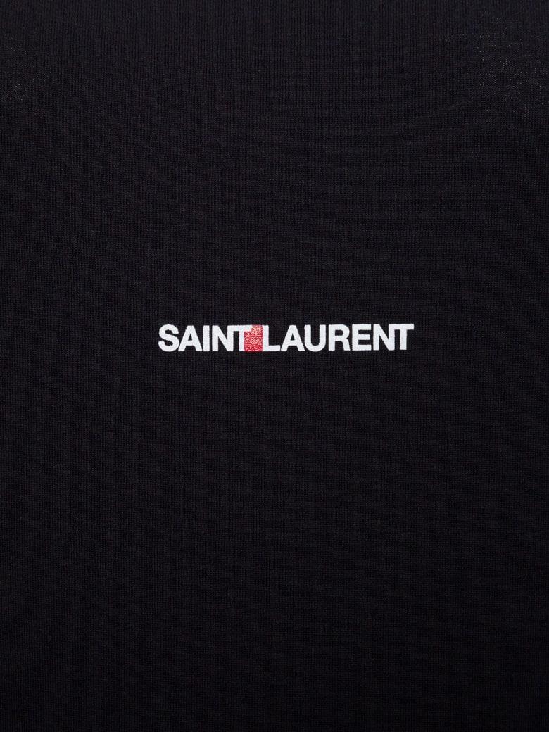 Saint Laurent Jersey Logo T-shirt - Black