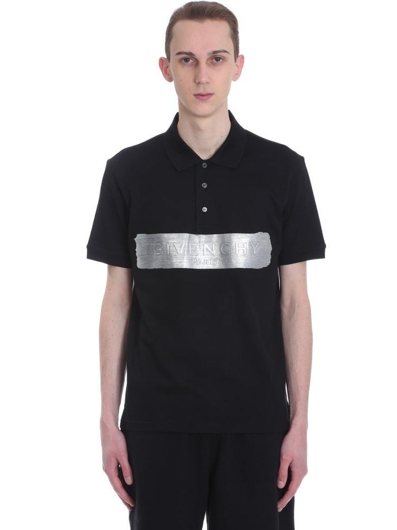 Givenchy Polo In Black Cotton - black