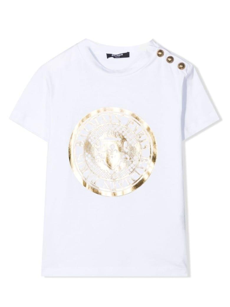 Balmain White Cotton T-shirt - Bianco