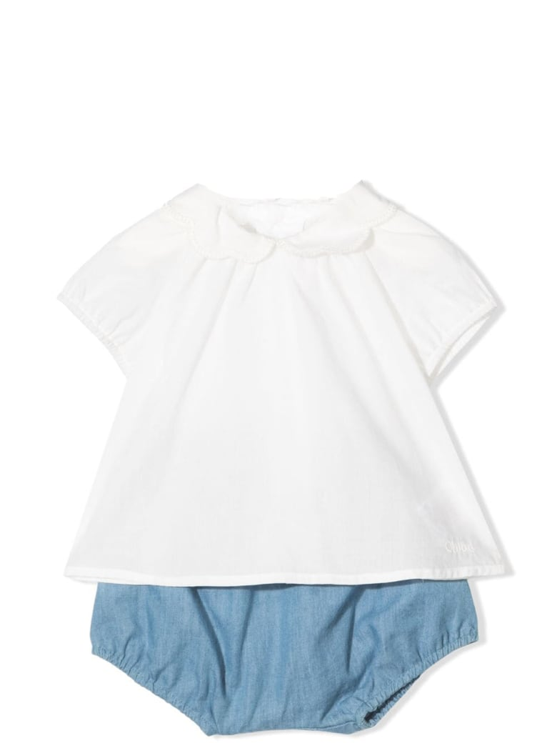 Chloé Top And Shorts Set - Denim