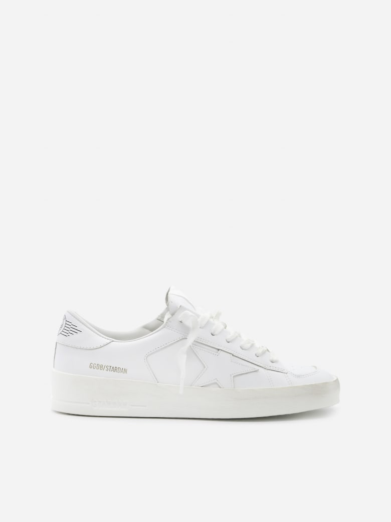 Golden Goose Stardan Sneakers In Leather - White
