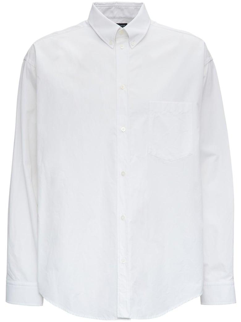 Balenciaga Cotton Shirt With Muli Language Back Print - White