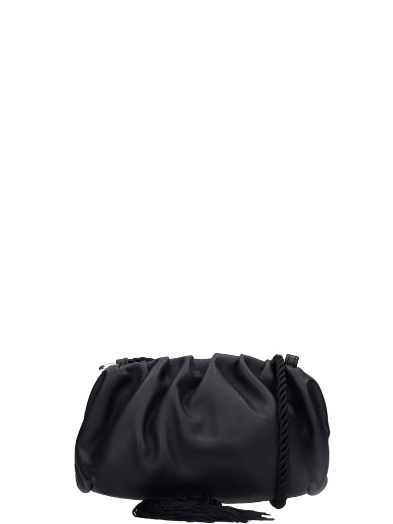 Ash Shania 01 Shoulder Bag In Black Leather - black