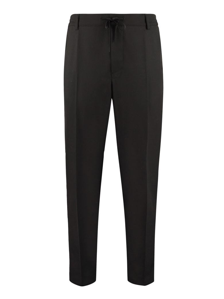 Maison Kitsuné Gabardine Trousers - black