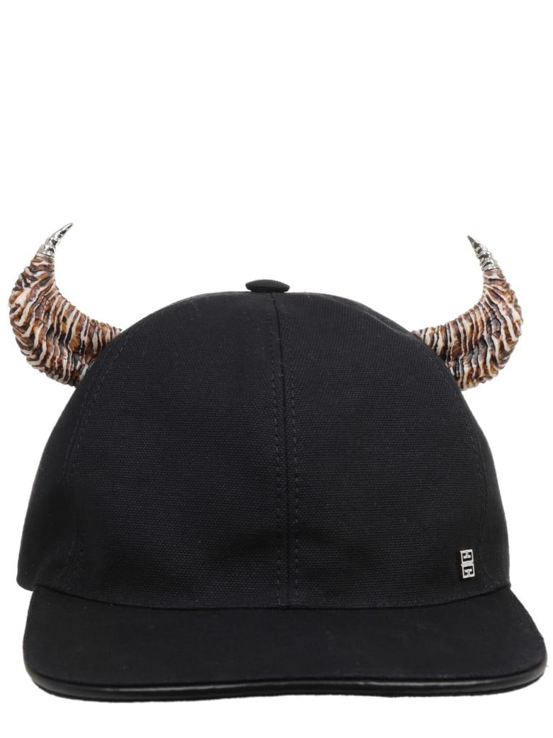 Givenchy Black Horn Cap - Nero/ecru