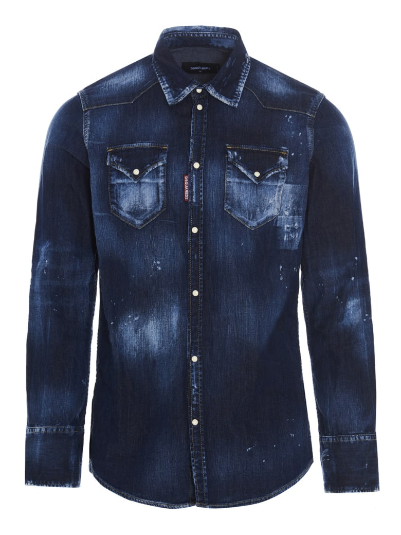 Dsquared2 'western Dark' Shirt - Blue