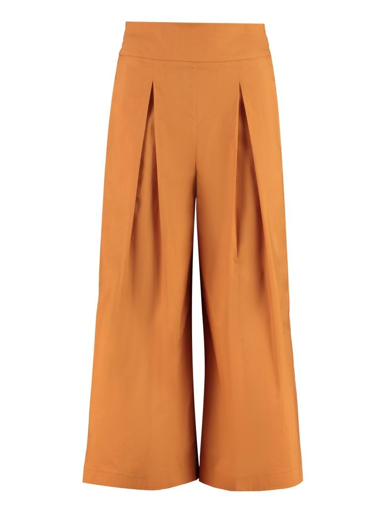 Pinko Teso Cotton Cropped Trousers - Orange