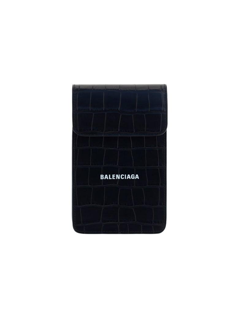 Balenciaga Card Holder & Phone Case - Black/l white