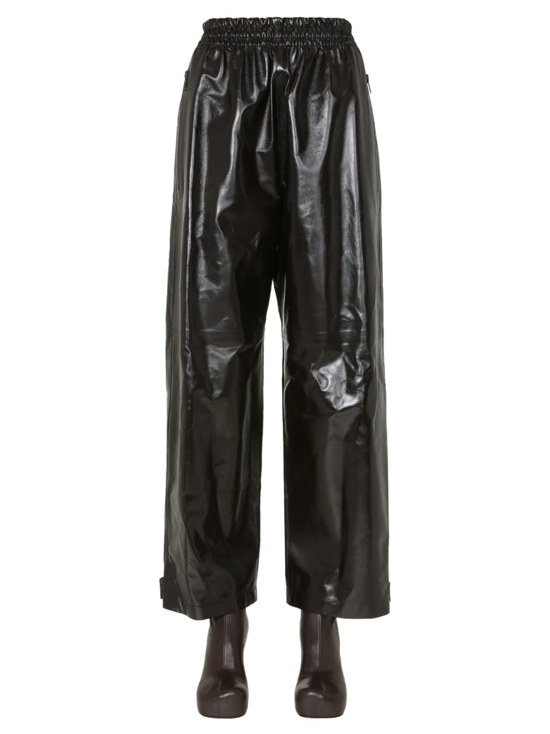 Bottega Veneta Shiny Leather Pants - Marrone