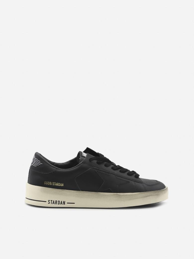 Golden Goose Stardan Sneakers In Leather - Black