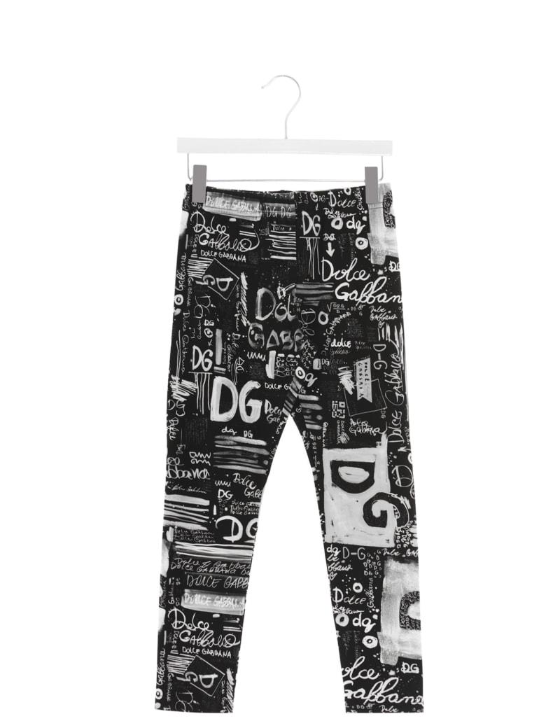 Dolce & Gabbana 'dg Next' Leggings - Nero bianco