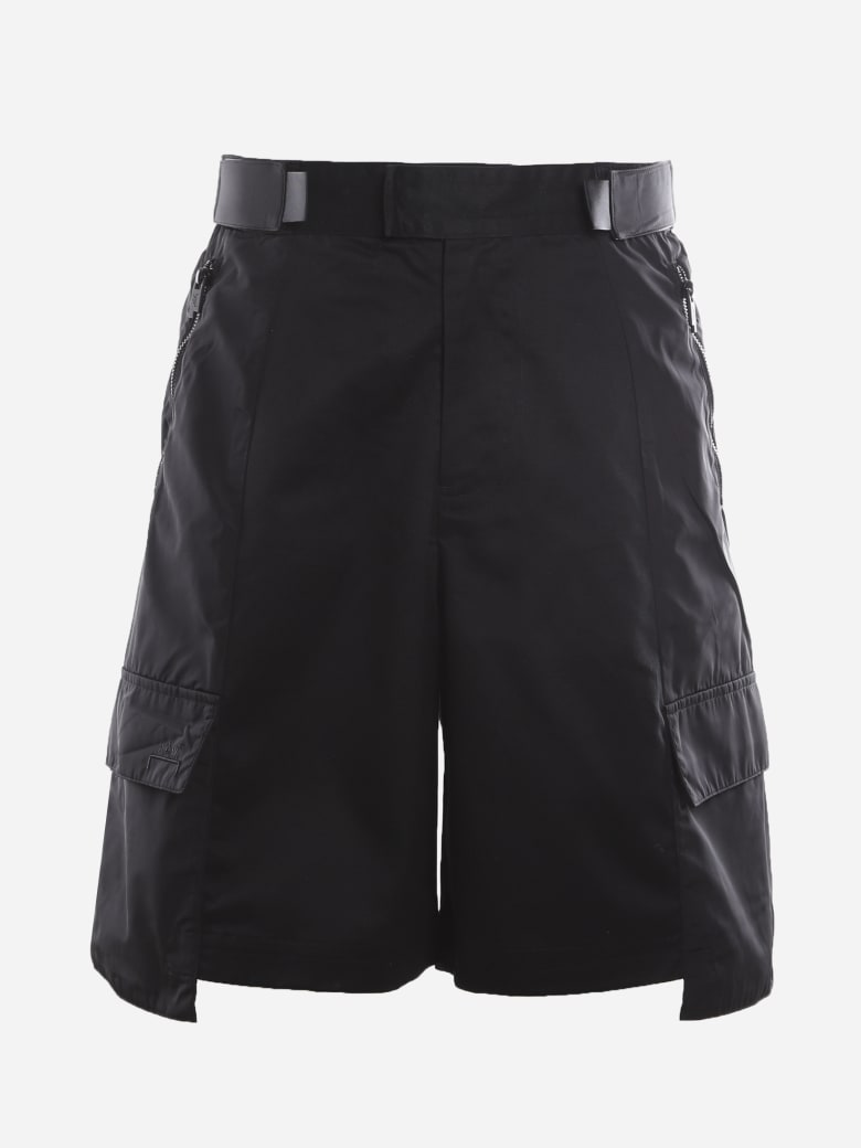 A-COLD-WALL Cotton Twill Cargo Shorts With Technical Fabric Inserts - Black