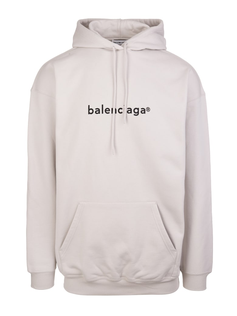 "Balenciaga Unisex Grey ""new Copyright"" Hoodie - Cement grey/black"