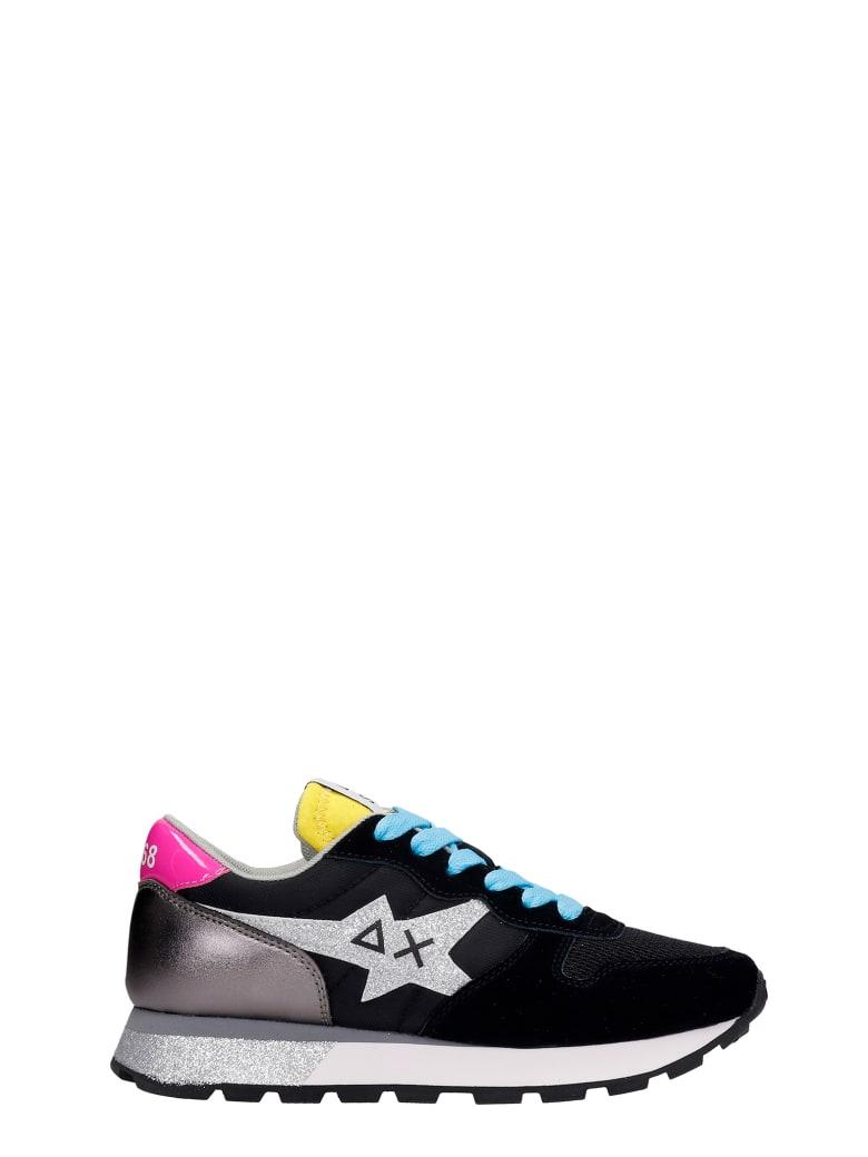 Sun 68 Ally Star Sneakers In Black Synthetic Fibers - black