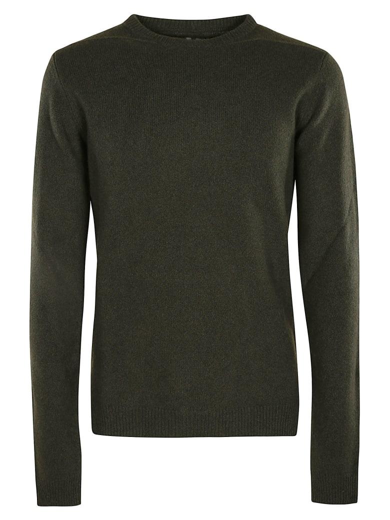 Rick Owens Round Neck Biker Sweater - Green
