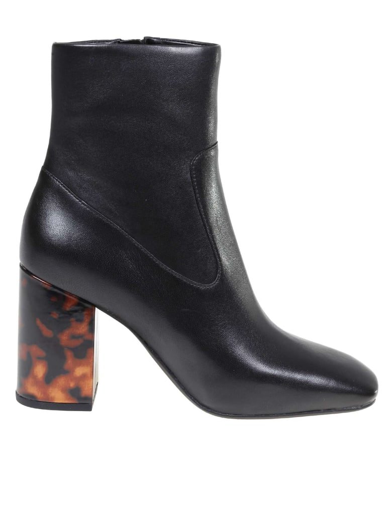 Michael Kors Marcella Boots In Black Leather - Black