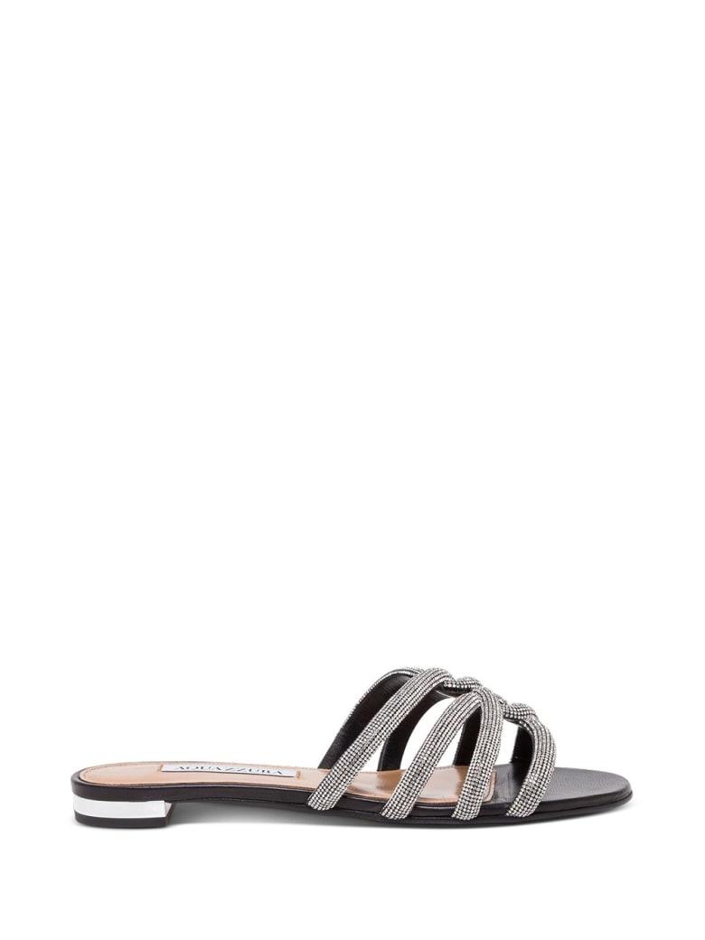 Aquazzura Moondust Sandals - Black